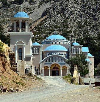 Crete, Monastery, Monastery Of Agios Nikolaos, Greece