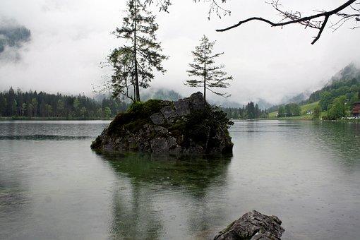 Bergsee, Mystical, Dreamy, Melancholic, Lonely, Fog