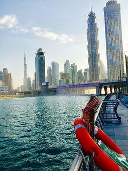 Dubai, Canal, Waterway, Landmark, City, Water, Travel
