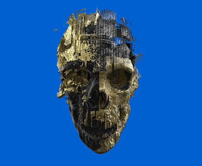 Skeleton, Skull, 3d, Scull, Yamo, Graphics