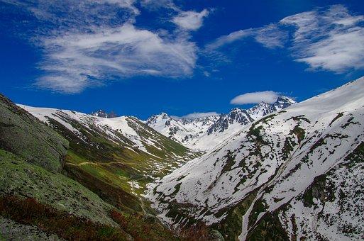 Summit, Mountain, Taylor, Green, Blue, White, Glacier