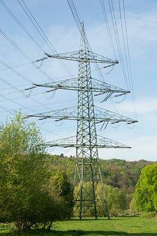 Strommast, Electricity, Power Line, High Voltage