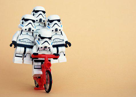 Lego, Stormtrooper, Cycling, Trick, Balance, Stable