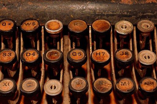 Old Typewriter, Typewriter, Retro, Keyboard, Letters