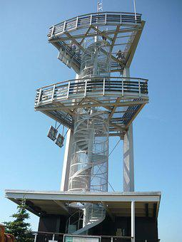The Lookout Tower On Spruce, Lookout, Jizera Mountains