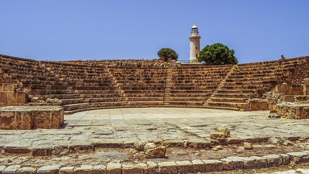 Ancient Theater, Monument, Ancient, Architecture, Stone