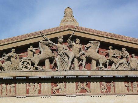 Parthenon, Art, Statue, Statuary, Relief, Architecture