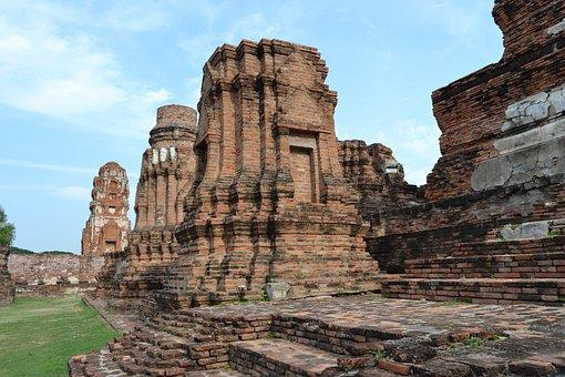 Ayutthaya, Thailand, Temple, Remains