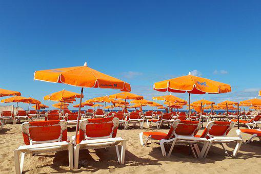 Canary Islands, Maspalomas, Gran Canaria, Beach, Spain