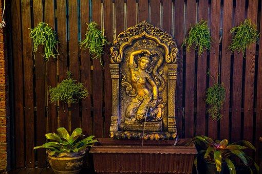 Goddess, Spirit Guardian, Fountain