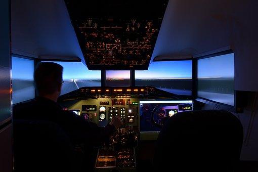 Simulator, Aviation, The Md-80, Dc 9, The Cockpit