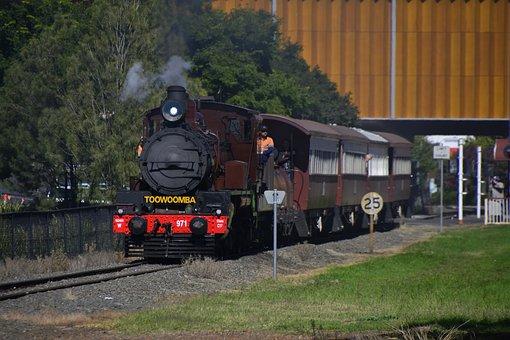 Toowoomba, Warwick, Queensland, Train, Railway, Rail