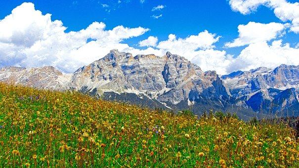 Alta Badia, Mountain, Alps, Sudtyrol, Dolomiti, Nature