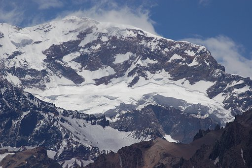 Aconcagua, Snow, S, Mountain, Andes, South, Argentina