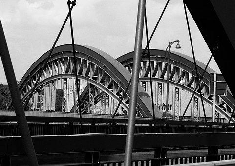 Bridge, River, Channel, Konnexion, Crossing, Ship