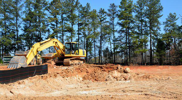 Construction, Site, Heavy Equipment, Building, Work