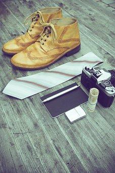 Hipster, Lifestyle, Tie, Camera, Photo, Analog
