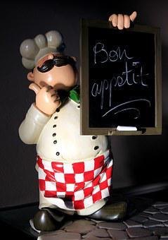 Cooking, Chef, Chef's Hat, Board, Chalk, Man, Statue