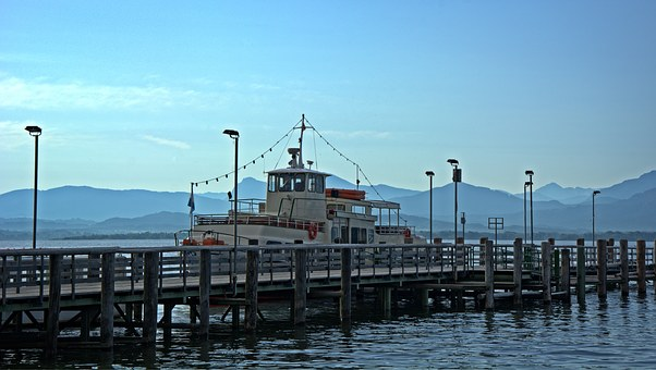 Transport, Port, Anchorage, Lake, Chiemsee, Leisure