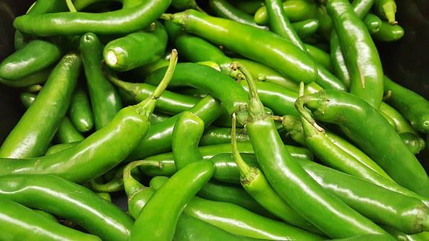 Serrano Peppers, Peppers, Chiles, Chili, Hot, Spicy