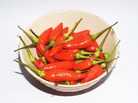 Chilli, Pepper, Red, Hot, Chili, Paprika, Green, White