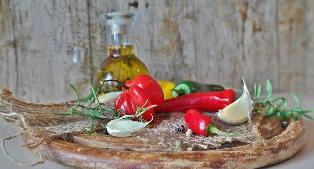 Chillis, Chilli Pepper, Chili, Red, Green, Yellow, Food