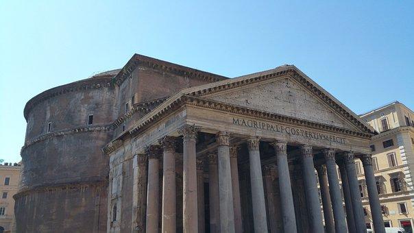 Rome, Pantheon, Historic, Antique, Temple, City, Roman