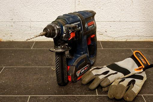 Drill, Impact Drill, Cordless, Battery, Sds, Machine
