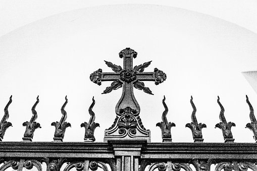 Decorative Gate, Cross, Gate, Decorative, Entrance