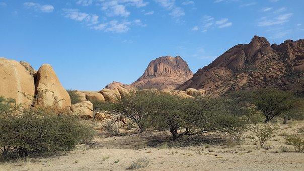 Spitzkoppe, Mountains, Namibia, Desert, Namib, Dry