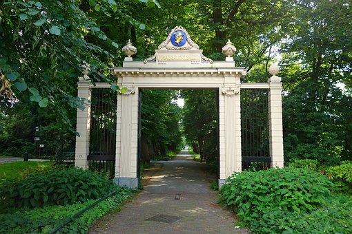 Gate, Classic, Greek, Tympanum, Cameo, Entrance