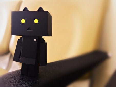 Danbo, Nyangbo, Figures, Doll, Black And White