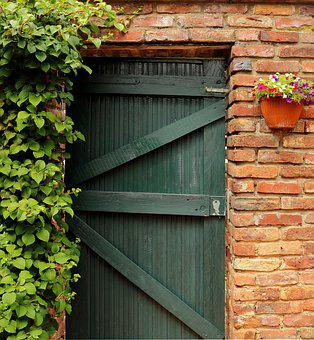 Door, Goal, Garden Gate, Old Door, Gate, Entwine
