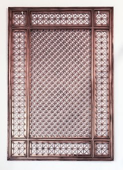 Metallic Gridiron, Iron, Detail, Texture, Gate, Door
