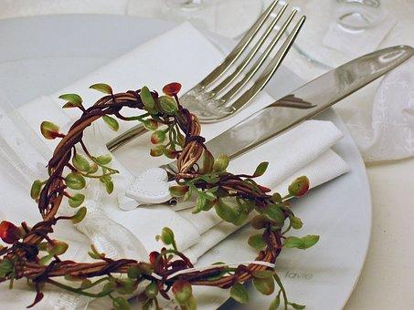 Gedeckter Table, Romantic, Board, Invitation