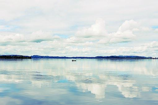 Chiemsee, Bavaria, Germany, Lake, Water, Nature