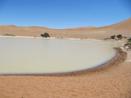 Deadvlei, Namib, Desert, Sossusvlei, Landscape, Sand
