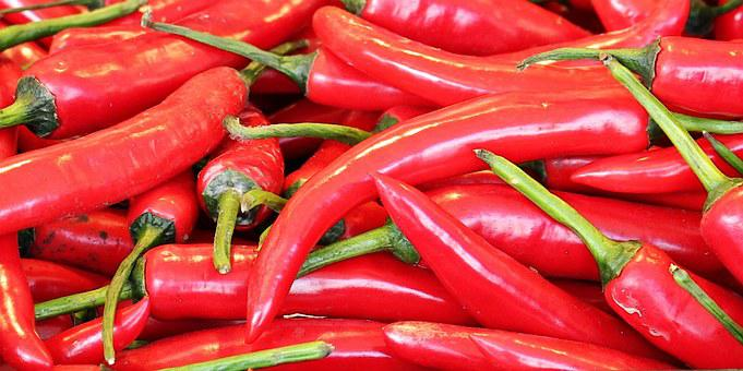 Chili, Market, Sharp, Red, Food, Spices, Market Stall