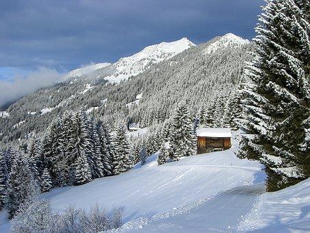 Winter, Snow Landscape, Mountains, Montafon, Austria