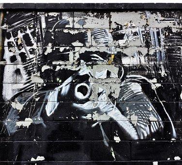 Mural, Graffiti, Lake Dusia, Warsaw Uprising