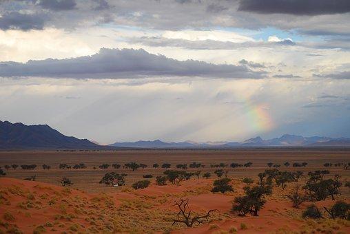 Namib, Desert, Namib Edge, Rainbow, Light, Africa