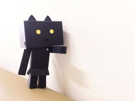 Danbo, Nyangbo, Figures, Doll, Black And White
