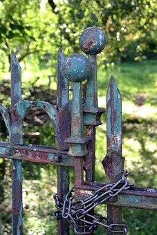 Garden Gate, Goal, Garden Door, Garden, Old, Nostalgia