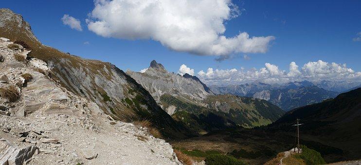 Mountain Panorama, Montafon, Mountains, Outlook