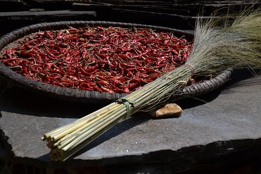 Chilli, Sharp, Pepper, Red, Food, Eat, Pods, Spices