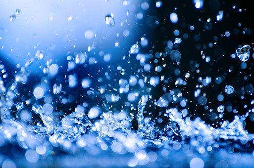 Water Drop, Rain, Falling, Pouring, Photo, Clear