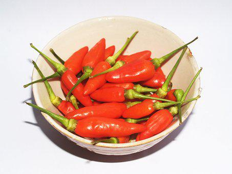 Chilli, Pepper, Red, Hot, Chili, Paprika, Green, White