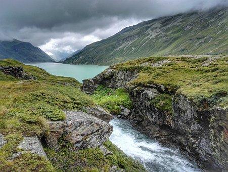 Silvretta Stausee, Reservoir, Vorarlberg, Montafon