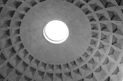 Pantheon, Roof, Roman, Architecture, Rome, Italy