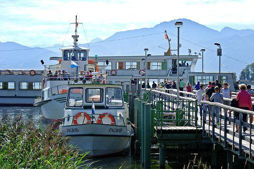 Shipping, Pier, Port, Jetty, Investors, Chiemsee, Ship